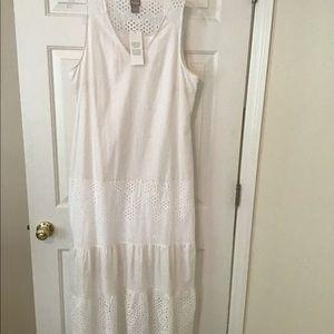 Chico's white linen maxi dress size 0.5